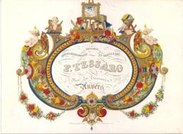 "ANTWERPEN-ANVERS "" F.TESSARO-GRAVURES-CARTES GEOGRAPHIQUES-GRAVEERDER- GEOGRAFISCHE KAARTEN""LITH.SCHOESETTERS 186/138MM - Cartes Porcelaine"