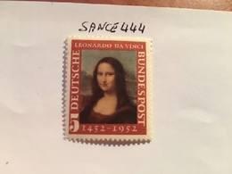Germany Mona Lisa L. Da Vinci 1952 Mnh  #ab - [7] Federal Republic