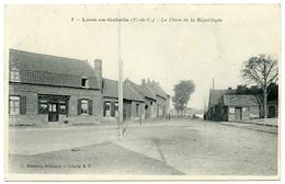62 : LOOS EN GOHELLE - LA PLACE DE LA REPUBLIQUE - France