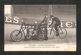 LES SPORTS - CYCLISME - STAYERS ET ENTRAINEURS - Auguste FOSSIER Entrainant Tom LINTON - Ciclismo
