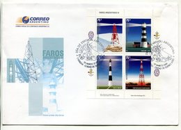 ARGENTINA - FAROS ARGENTINOS II, 1° DE MAY, AÑO NUEVO EL RINCON RECALADA. AÑO 2006 SOBRE PRIMER DIA ENVELOPE FDC - LILHU - Faros