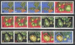 Polynésie Française - Service - YT 1-15 (A) ** MNH - 1977 - Fruits - Service