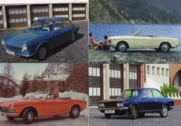FIAT 124  -  Lot De 4 Voitures/Automobiles  -  4 X Cartes Postales Modern - 4xCPM - Voitures De Tourisme