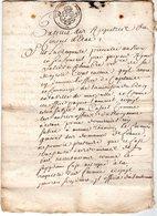 Extrait Du Registre Du CONSEIL D'ETAT  1712 - Historische Documenten