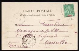 St. PIERRE Et MIQUELON: Timbre N° 72 Obl.en 1904, Plan TOP Sur Un Retour........... - St.Pierre Et Miquelon