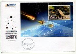 ARGENTINA - COSMOS CIENCIA, METEORITOS DE CAMPO DEL CIELO. AÑO 2007 SOBRE PRIMER DIA ENVELOPE FDC - LILHU - Astronomùia