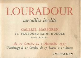 VIEUX PAPIERS PARIS IIIe PUBLICITE LOURADOUR VERSAILLES INSOLITE GALERIE MARFOREN 1955  ETAT VOIR IMAGES - Colecciones