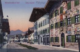 Österreich 1953 - 2 X 5 Gro Trachten + 2 Sonderstempel POSTDIENST ALT UND NEU Auf Ak 1922 MITTENWALD A.d.Isar, Obermarkt - 1945-.... 2. Republik