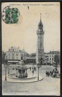 CPA 27 - Evreux, Place De L'Hôtel De Ville - Fontaine Et Beffroi - Evreux
