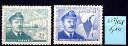 1967 -  CILE -  Mi. Nr.  657/658 - NH - (AS2302.2) - Cile