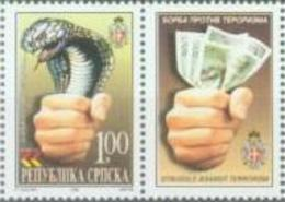 BHRS 2002-233 AGAINST TERORISAM, BOSNA AND HERZEGOVINA, R.SRPSKA, 1 X 1v, MNH - Schlangen