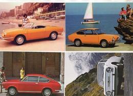 FIAT  850  -  Lot De 4 Voitures/Automobiles  -  4 X Cartes Postales Modern - 4xCPM - Voitures De Tourisme