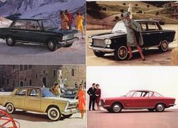 FIAT   -  Lot De 4 Voitures/Automobiles  -  4 X Cartes Postales Modern - 4xCPM - Voitures De Tourisme