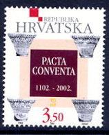 CROATIA 2002 Union Of Croatia And Hungary MNH / **.  Michel 632 - Croatie
