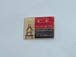 Pin's C.E., SOCIETE GENERALE D ELBEUF - Banks