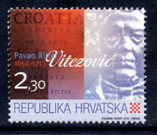 CROATIA 2002 Ritter-Vitezovic MNH / **.  Michel 631 - Croatie