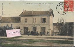 GIRONCOURT Sur VRAINE La Gare Et Le Café Train) - France