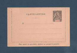 MARTINIQUE 1892  CARTE LETTRE Pré Oblitérée 25 C Noir - Briefe U. Dokumente