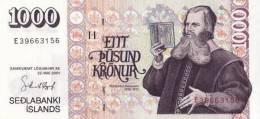 ICELAND P. 59 1000 K 2001 UNC - Iceland