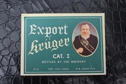 6 - Etiquettes Bière-Beerlabel-bieretiket / Lot De 4 Etiquettes,Brasserie / Brouwerij - Brasserie Krüger Eeklo - Bier