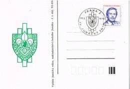 33302. Tarjeta PRAHA (Checoslovaquia) 1990 IV. Junacky Snem, SCOUTS - Cartas