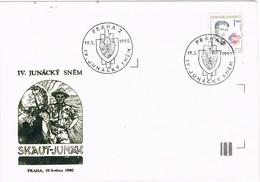 33303. Carta PRAHA (Checoslovaquia) 1990 IV. Junacky Snem, SCOUTS - Cartas