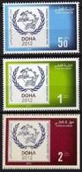 Qatar** 2012, UPU Congress In Doha, Logo & Olive Leaves, (3-issues) - Qatar