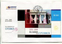ARGENTINA - DEL HORROR A LA ESPERANZA, 30 AÑOS DE LA DICTADURA. AÑO 2009 SOBRE PRIMER DIA ENVELOPE FDC - LILHU - Otros