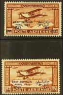 """1931 Air """"Graf Zeppelin"""" Overprints Complete Set, SG 185/86, Fine Mint, Fresh. (2 Stamps) For More Images, Please Visit  - Egypt"""