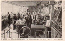 96Ve   Paris Rue Legendre Atelier Du Cuivre Cuivrerie Etablissement Stockman En TBE - Otros