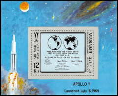740 Manama MNH ** Mi N° 41 A Bloc Espace (space) Apollo 11 Fist Manned Landing On The Moon - Asie