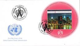 33307. Carta GENEVE (Suisse)  2002. ONU SIDA Hojita Medicina, Enfermedad - ONU