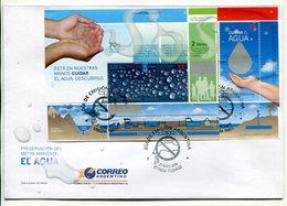 ARGENTINA - PRESERVACION DEL MEDIO AMBIENTE, EL AGUA. AÑO 2009 SOBRE PRIMER DIA ENVELOPE FDC - LILHU - Protección Del Medio Ambiente Y Del Clima