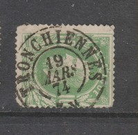 COB 30 Oblitération Centrale Double Cercle TRONCHIENNES - 1869-1883 Léopold II