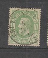 COB 30 Oblitération Centrale Double Cercle CRUYSHAUTEM - 1869-1883 Léopold II