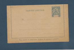 MARTINIQUE 1892 CARET LETTRE   Pré Oblitérée 15 C Bleu - Briefe U. Dokumente