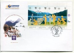ARGENTINA - CENTENARIO DEL MOVIMIENTO SCOUT. AÑO 2007 SOBRE PRIMER DIA ENVELOPE FDC - LILHU - Movimiento Scout