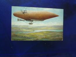 1908 THE LEBAUDY AIRSHIP COLORISEE  BON ETAT - Dirigeables
