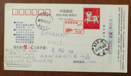 China 2003 Jilin Rain Of Meteorite The Largest Stone Meteorite No.1 Jilin Meteorite Pictorial Pmk 1st Day Used On Card - Astronomie