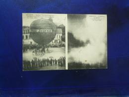 1914 SEZANNE BALLON LE PETIT JOURNAL AVANT ET APRES SON EXPLOSION LE 7 JUIN 1914  BON ETAT - Montgolfières