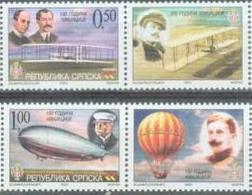 BHRS 2003-15 100 YEAR OF AVIATION, BOSNA AND HERZEGOVINA - R.SRPSKA, 1 X 2v + Labels,  MNH - Bosnia Erzegovina