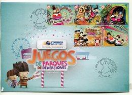 ARGENTINA - JUEGOS DE PARQUES DE DIVERSIONES, AMUSEMENT PARK. AÑO 2009 SOBRE PRIMER DIA ENVELOPE FDC - LILHU - Juegos