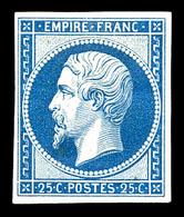 N°15c, 15c Bleu, Impression De 1862. TB (certificat)  Qualité: *  Cote: 600 Euros - 1853-1860 Napoléon III