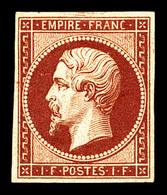 N°18d, 1F Carmin, Impression De 1862, TTB (certificats)  Qualité: *  Cote: 2400 Euros - 1853-1860 Napoléon III
