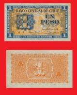 Chile  1   Pesos 1943 - Tchad