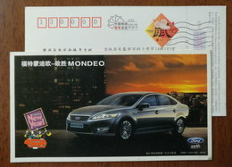 Ford MONDEO Automobile,car,China 2008 Hangzhou Post New Year Greeting Advertising Pre-stamped Card - Voitures