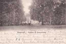 Groenendael - Groenendaal - Château - Restaurant - Circulé- Dos Non Séparé - Animée - TBE - Hoeilaart