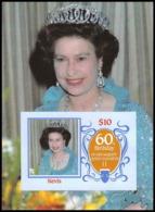 919f Nevis Scott MNH ** N°# 476 Bloc 115x85mm (small Blue Paper) 1986 Queen Mother Elizabeth Non Dentelé (imperforate) - Royalties, Royals