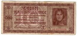 Ukraine 10 Karbowanez 10/03/1942 - Ukraine