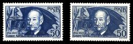 N°398/a, 50f Ader, Papier Normal Et Papier épais, Les 2 Ex TB  Qualité: **  Cote: 370 Euros - Frankrijk